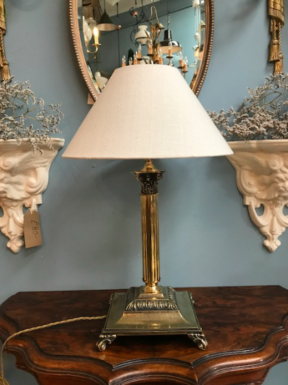 Great Quality Brass Corinthian Column Table Lamp